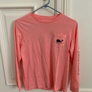 Pink Vineyard Vines Long Sleeve Tshirt
